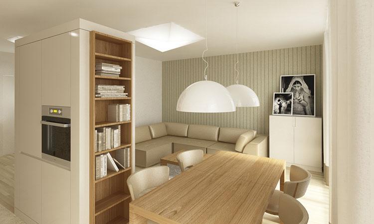 07 Projekt Apartamentu W Centrum Wrocławia Jadalnia Architekt