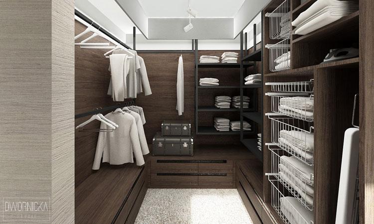 16 Projekt Garderoby Przy Sypialni Architekt Projektant